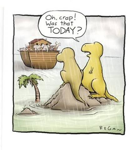 Procrastination-Dinosaurs-Noahs-Ark-cartoon